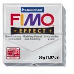 FIMO Effect Metallic Silver полимерная глина, запекаемая в печке, уп. 56 гр. цвет: серебряный металлик 8020-81