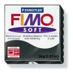 FIMO Soft Black полимерная глина, запекаемая в печке, уп. 56 гр. цвет: чёрный арт.8020-9