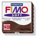 FIMO Soft Chocolate полимерная глина, запекаемая в печке, уп. 56 гр. цвет: шоколад, арт.8020-75
