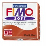 FIMO Soft Indian Red полимерная глина, запекаемая в печке, уп.56 гр. цвет: индийский красный арт.8020-24