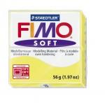 FIMO Soft Lemon полимерная глина, запекаемая в печке, уп. 56 гр. цвет: лимонный арт.8020-10