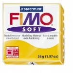 FIMO Soft Sunyellow полимерная глина, запекаемая в печке, уп. 56 гр. цвет: жёлтый арт.8020-16