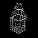 Клетка Y-916 арт.КЛ21533 квадратная с сердечком 9*16см металл