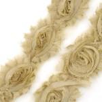 Лента с розами тканевыми НЕЖНАЯ арт.SCB 0714016 шир.7 см по 90 см