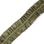 Лента Рюш траурная арт.с3056г17т4 рис.6817 шир.40 мм цв. т.золото уп.10м
