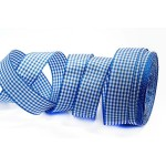 Лента шотландка 30мм арт. С3721Г17 рис 9256 цв. синийбелый уп. 25м