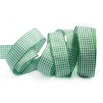 Лента шотландка 30мм арт. С3721Г17 рис 9256 цв. зеленыйбелый уп. 25м