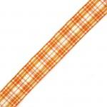 Лента шотландка с метанитом 30мм арт. С3301Г17 рис 9280 цв. оранжевый в ассортим уп. 25м