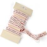 Ленточка декоративная LL-006 для творчества арт.КЛ.20210 шир. 1,0см упак. 3м цв.светло-розовы