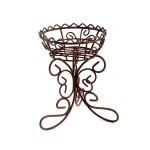 Металлический мини цветочный горшок арт. SCB27049 5х8х10см коричневый