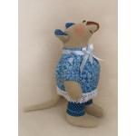 Набор для изготовления текстильной игрушки 22 см Mouse Story Мышка арт.М002 Ваниль