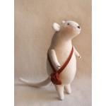 Набор для изготовления текстильной игрушки 22см Mouse Story арт.M001, Мышка флисовая, Ваниль