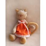 Набор для изготовления текстильной игрушки 27 см Кошечка арт.С001, Ваниль