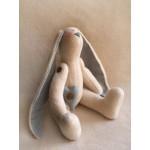 Набор для изготовления текстильной игрушки 28см Rabbit Story арт.R005, Заяц флисовый, Ваниль