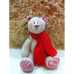 Набор для изготовления текстильной игрушки 29см Bear`s Story арт.В002, Мишка 100% лен, Ваниль