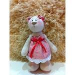Набор для изготовления текстильной игрушки 29см Bear`s Story арт.В003, Мишка 100% лен, Ваниль