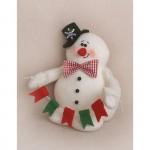 Набор для изготовления текстильной игрушки 34 см Снеговик арт.CH001, Ваниль