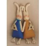 Набор для изготовления текстильной игрушки 34 см Rabbit''s Story Зайки арт.016 Ваниль