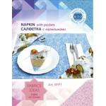 Набор для изготовления текстильной игрушки арт.KFP1 Салфетка голубая с сердечком