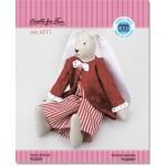 Набор для изготовления текстильной игрушки арт.KFT11 Веселые кролики - РОДЖЕР