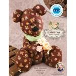 Набор для изготовления текстильной игрушки арт.KFT11Sh Мишка большой шоколадный в розочку