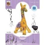 Набор для изготовления текстильной игрушки арт.KFT4 Жираф с мечтой оранжевый