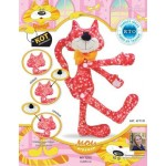 Набор для изготовления текстильной игрушки арт.KFT7R Кот Обнимашка