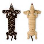 Набор для изготовления текстильной игрушки арт.КП-201 Кофейная Такса 34,5 см
