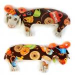 Набор для изготовления текстильной игрушки арт.КП-205 Кофейный Барашек 30,5 см