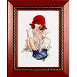 Набор для вышивания Алисена арт.1001 Красная шапочка 15*23 см