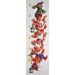 Набор для вышивания Алисена арт.1009 Ростомер Веселые гномы 20*65 см