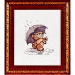 Набор для вышивания Алисена арт.1022 Медвежонок под зонтом 10*11 см