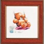 Набор для вышивания Алисена арт.1026 Мишка на качелях 11*11 см