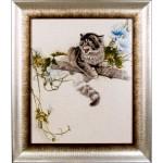 Набор для вышивания Алисена арт.1028 Испуганный котенок 37*45 см