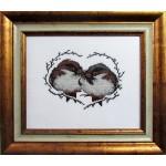 Набор для вышивания Алисена арт.1029 Валентинка воробьи 17*13 см