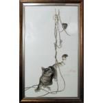 Набор для вышивания Алисена арт.1033 Кошки-мышки 33*57 см