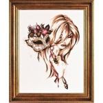 Набор для вышивания Алисена арт.1056 Маска 37*50 см