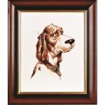 Набор для вышивания Алисена арт.1058 Собака 21*27 см