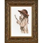 Набор для вышивания Алисена арт.1063 Юная модница 18*29 см