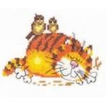 Набор для вышивания арт.Алиса - 001 М Ленивый кот 11х9 см