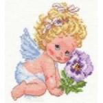 Набор для вышивания арт.Алиса - 014 СР Ангелок счастья 12х14 см