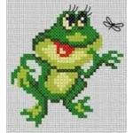 Набор для вышивания арт.Алиса - 022 М Лягушонок 7х7 см