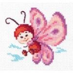 Набор для вышивания арт.ЧИ-10-27 Бабочка 8х8 см