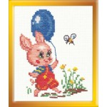 Набор для вышивания арт.ЧИ-13-10 (Д-044) М Пятачок 9х13см