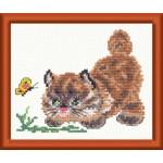 Набор для вышивания арт.ЧИ-15-04 (Д-026) СР Барсик 12х11см