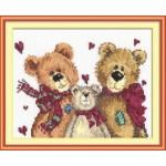 Набор для вышивания арт.ЧИ-17-06 (Д-085) СР Три медведя 18х16см