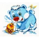 Набор для вышивания арт.ЧИ-17-14 СР Белый межвежонок СР 12х11 см