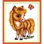 Набор для вышивания арт.ЧИ-18-02 (Д-003) СР Весёлая лошадка 17,5х13,5 см