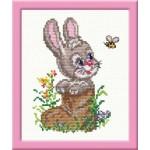 Набор для вышивания арт.ЧИ-18-16 (Д-039) СР Зайка в валенке 12х14см