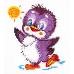 Набор для вышивания арт.ЧИ-18-49 СР Крошка пингвиненок 11х12 см